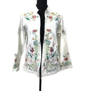 Quacker Factory Embroidered Jacket Sz. Small